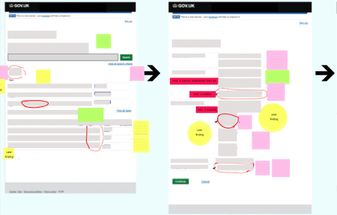 /><figcaption><br> I've had a anonymise this journey as the digital service is not yet live. However, we used Mural to annotate, draw and make notes about the usability findings and discuss improvements. </figcaption></figure></div>    <div style=