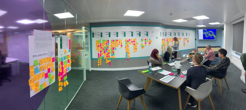 /><figcaption> <br>This was the observation room from one of my last usability tests (whilst I was with the participant moderating the session.)</figcaption></figure></div>    <div style=